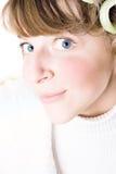 привлекательная голубая eyed женщина стоковое фото rf