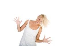 привлекательная девушка вентилятора имеет Стоковые Фото