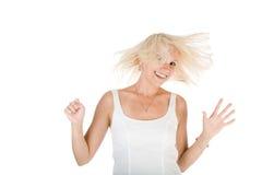 привлекательная девушка вентилятора имеет Стоковое фото RF