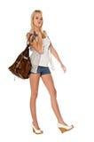 привлекательная девушка двери затем Стоковое Изображение RF