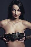 привлекательная девушка пояса Стоковое Изображение RF
