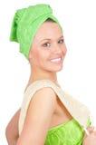 привлекательная девушка facecloth стоковая фотография