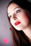 привлекательная женщина Валентайн дня s Стоковые Фотографии RF