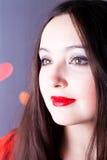 привлекательная женщина Валентайн дня s Стоковые Изображения RF
