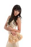 привлекательная женщина вечера платья стоковая фотография