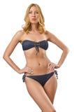 Привлекательная женщина в бикини Стоковые Фотографии RF