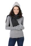 Привлекательная женщина в одеждах зимы Стоковое Фото