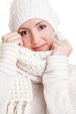 привлекательная женщина зимы одежды Стоковое Фото