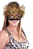 привлекательная женщина маски масленицы Стоковые Фотографии RF