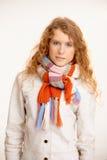 Привлекательная женщина одетьнная вверх по теплому Стоковое фото RF