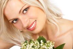 привлекательная женщина стороны стоковое изображение