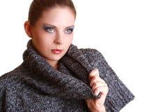 привлекательная красивейшая женщина портрета Стоковое Фото