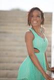 Привлекательная молодая женщина афроамериканца Стоковое Изображение RF