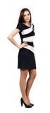 Привлекательная молодая женщина в платье Стоковое Изображение RF