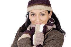 привлекательная повелительница приютила зиму стоковая фотография