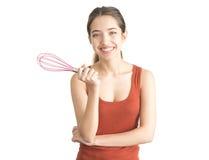 Привлекательная поддерживающая цепь молодой женщины юркнет Стоковые Фотографии RF