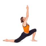 привлекательная подходящая практикуя йога женщины Стоковая Фотография