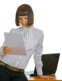 привлекательная секретарша стоковое фото rf