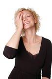 привлекательная смеясь над женщина стоковое изображение