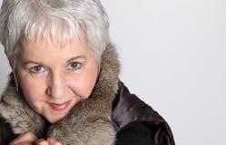 привлекательная старшая женщина Стоковые Фото