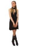 привлекательная черная девушка платья тонкая Стоковое Изображение RF