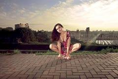 привлекательная эротичная милая женщина Стоковые Изображения RF