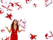 привлекательная excited женщина Стоковое фото RF