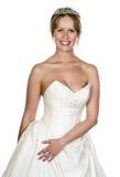 привлекательное белокурое венчание девушки платья стоковое фото rf