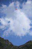 Привлекательное голубое небо в прикарпатских горах Стоковая Фотография RF