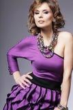 привлекательное woma лета платья стоковые изображения rf