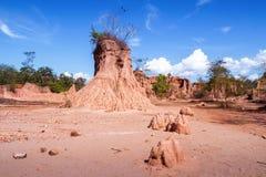 Привлекательности выветрились штендеры песчаника или столбцы и скалы на Na Noi Din Sao, национальном парке Nan sri, провинции Nan стоковые изображения