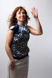 привлекательно что-то голосует детенышей женщины Стоковое Фото