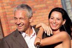 привлекательные пары счастливые Стоковые Изображения RF