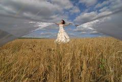 привлекательные тесемки невесты Стоковые Фото