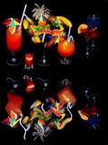 привлекательные черные коктеилы сверх Стоковые Изображения RF