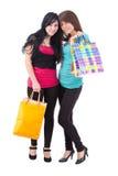 привлекательные 2 женщины молодой Стоковые Фото