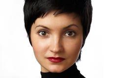 привлекательный близкий портрет вверх по женщине Стоковое Фото