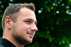 привлекательный головной профиль человека Стоковая Фотография RF