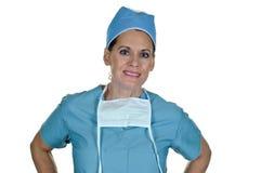 привлекательный женский хирург стоковое изображение rf