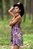 привлекательный испанец девушки пущи Стоковое Фото