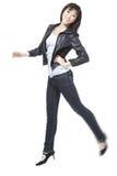привлекательный красивейший китайский скакать утехи девушки Стоковое Фото