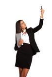 привлекательный мобильный телефон девушки дела Стоковая Фотография RF