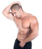 привлекательный мужчина строителя тела Стоковые Фотографии RF