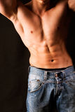 привлекательный мужчина тела стоковое фото rf