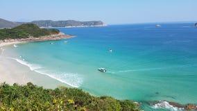 Привлекательный пляж на пляже олова ветчины, Гонконге стоковые изображения rf