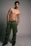 привлекательный тонизированный мужчина тела Стоковые Фотографии RF