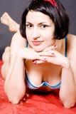 привлекательный штырь девушки вверх Стоковое фото RF