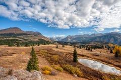 Привод горизонта Колорадо около Silverton CO стоковое изображение rf