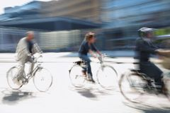 привод города велосипедиста Стоковое Изображение