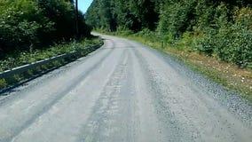 Привод грязной улицы Аляски сток-видео
